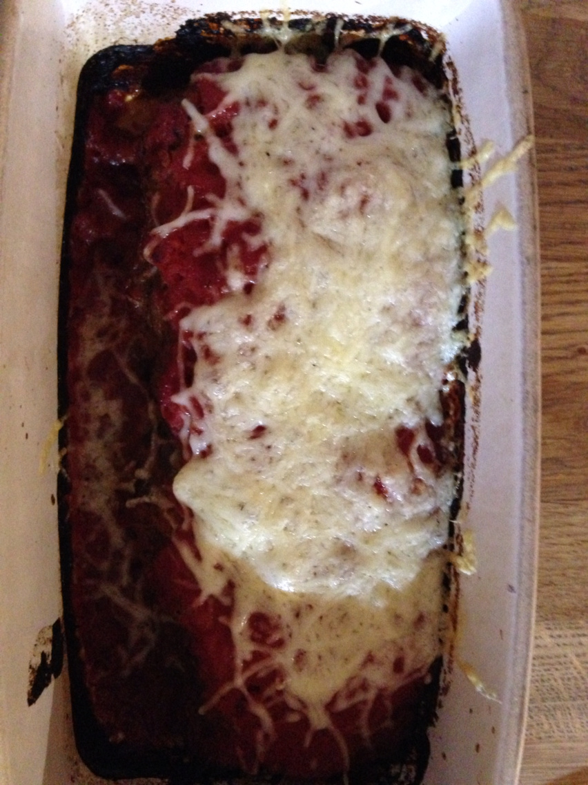 Italian meatloaf with parmesan